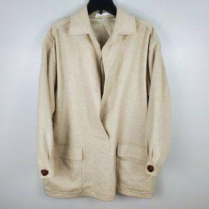 Perry Ellis Wool Cashmere Pullover Coat Medium